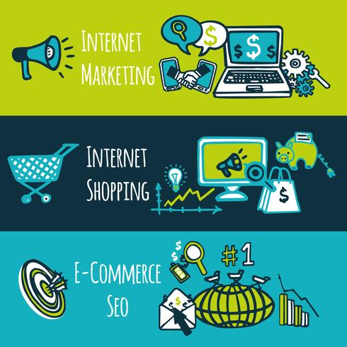 SEO Internet-Marketing-Set vektor