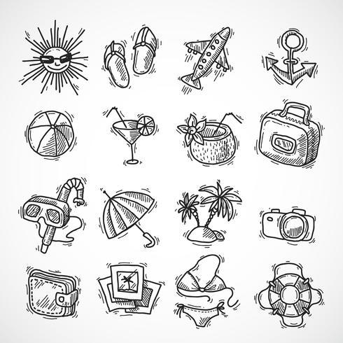 Sommerferien-Icon-Set vektor