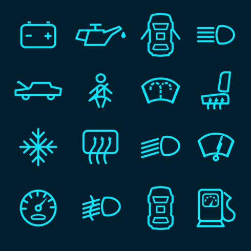 Auto-Dashboard-Symbole vektor