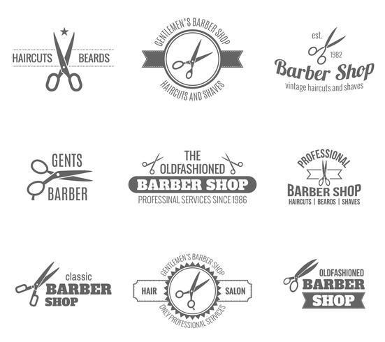 Barber Etikett Svart vektor