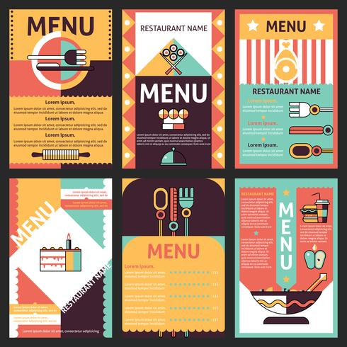 Restaurant-Menü-Designs vektor