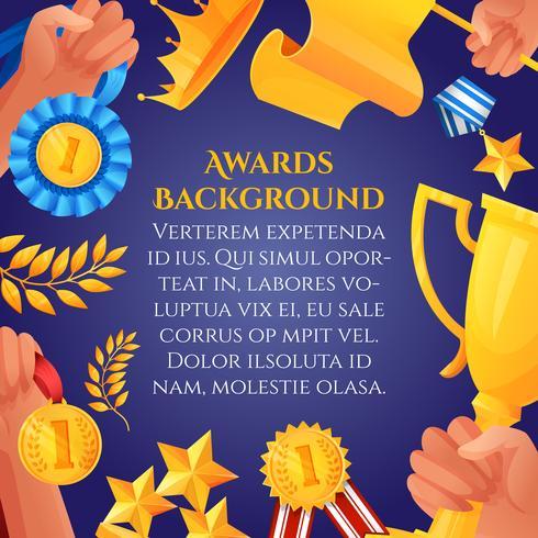 Auszeichnung und Preisplakat vektor