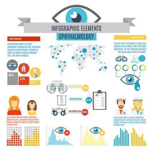 oculist infographic set vektor