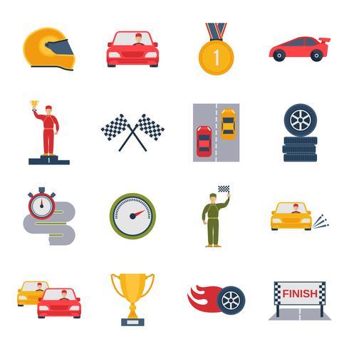 auto sport ikon platt vektor