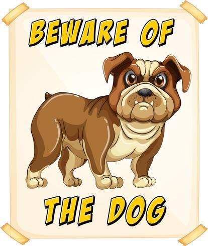 Akta dig för hund vektor