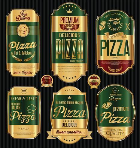Pizza-Design vektor