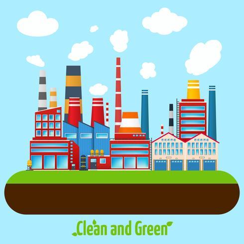 Grünes Industrieplakat vektor