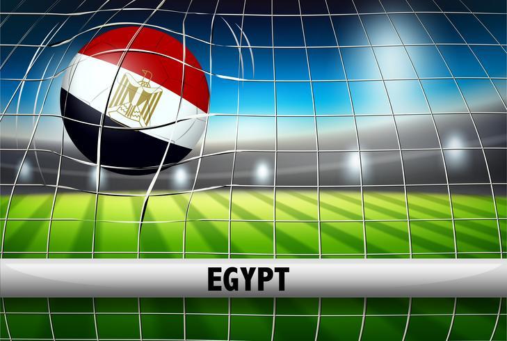 Egypten fotboll boll flagga vektor