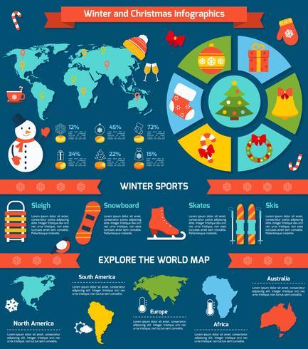 Winter und Weihnachten Infografik vektor