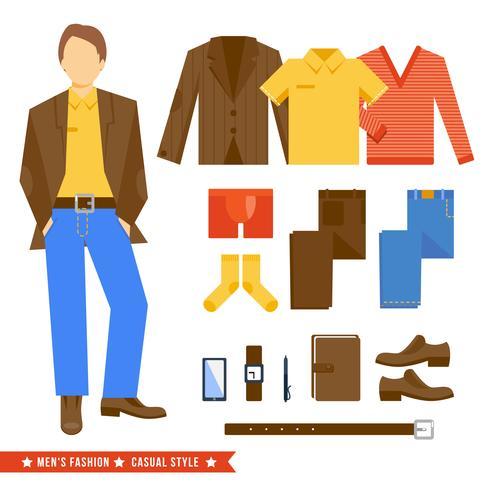 Geschäftsmann Kleidung Icons vektor