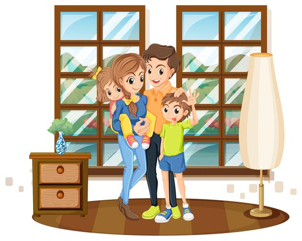 Familjemedlemmar i huset vektor