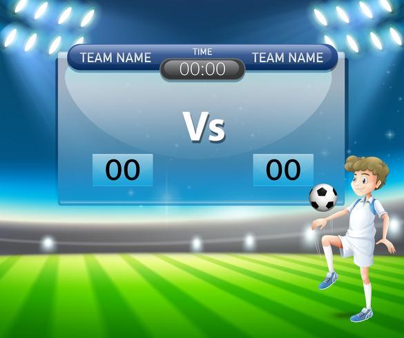 Eine Vorlage für die Fußballanzeiger vektor