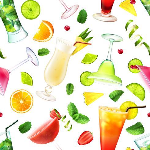Cocktail sömlöst mönster vektor