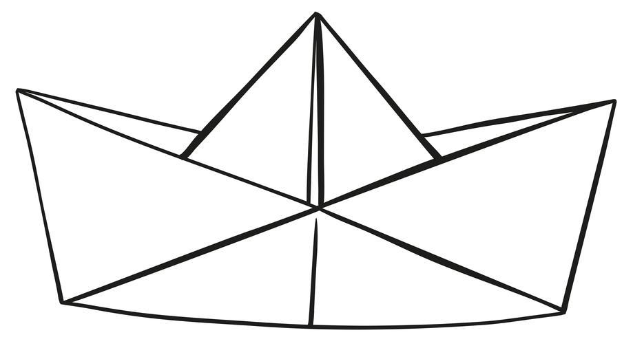 Pappershatt på vit bakgrund vektor