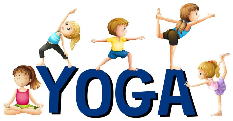 Schriftgestaltung mit Wort Yoga vektor