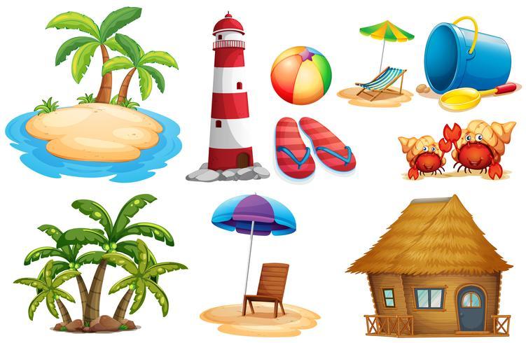 Sommerset mit Insel und Bungalow vektor