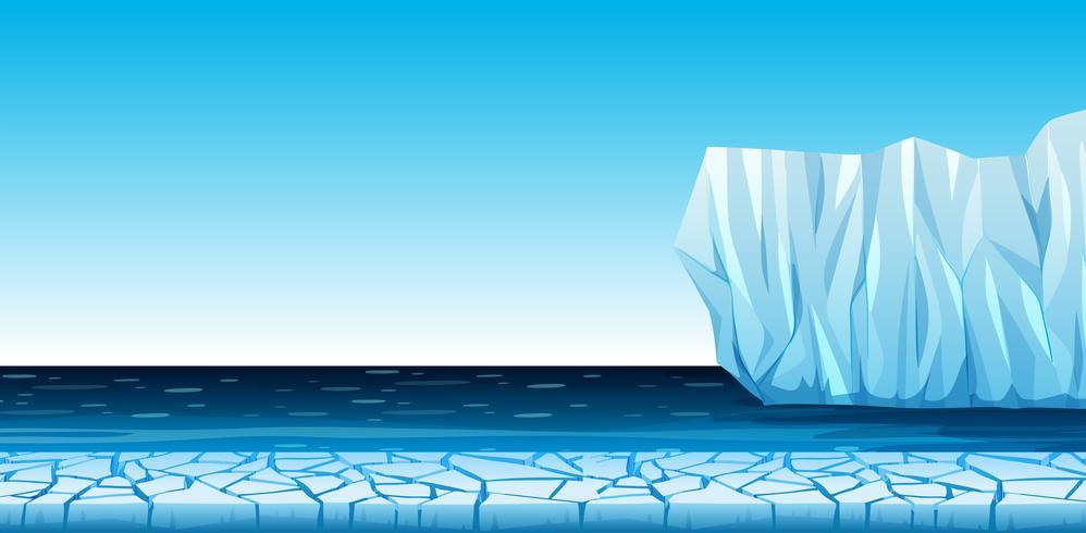 Ett kallt arktiskt landskap vektor