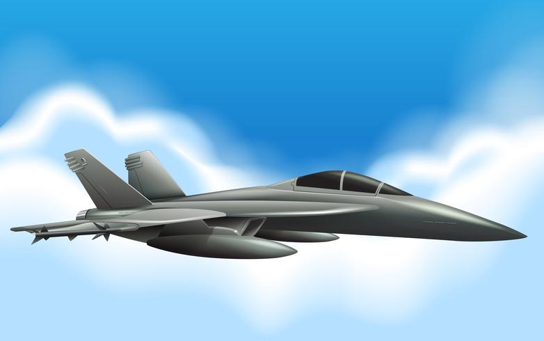 Militärjetfliegen im Himmel vektor