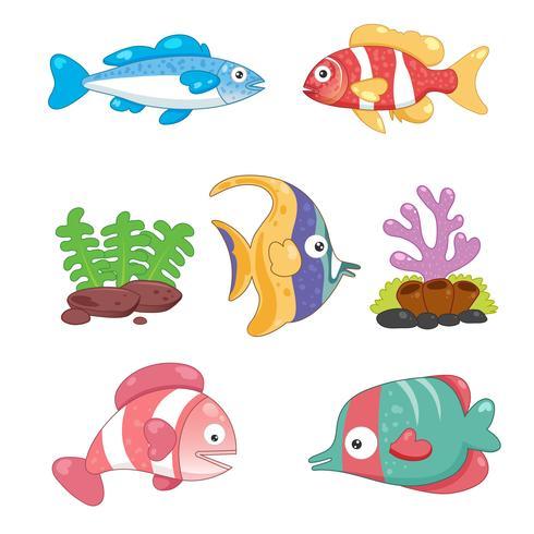 ocean djur samling design vektor