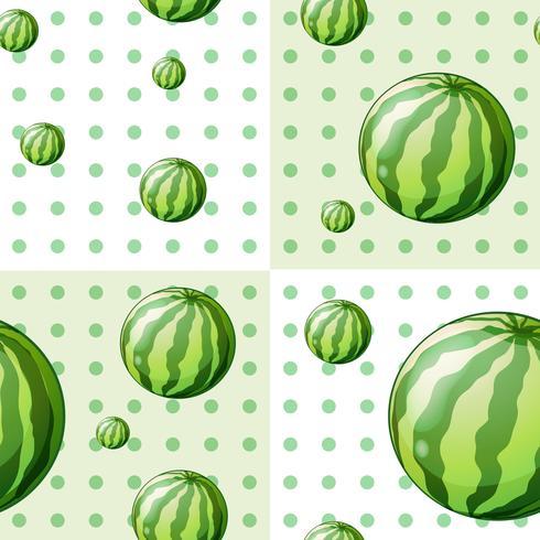 Sömlös bakgrundsdesign med vattenmeloner vektor