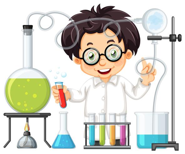 Ett kemist experiment vid Lab vektor