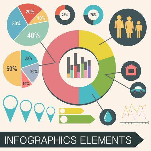 Ett informationsschema med statistik vektor