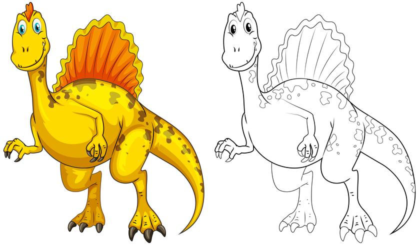 Tierumriss für Dinosaurier vektor