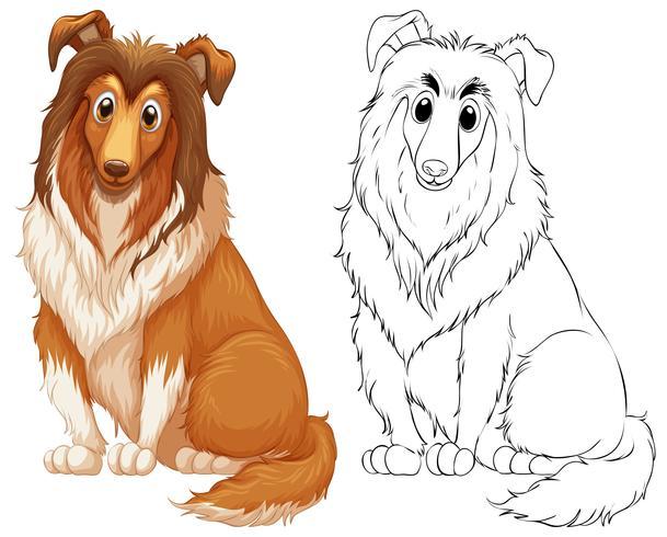 Kritzeleien zeichnen Tier für großen Hund vektor