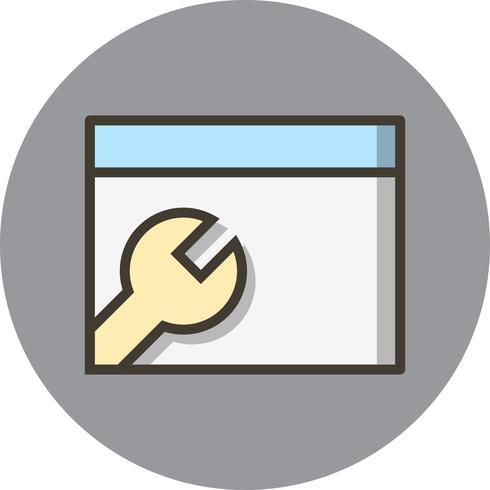 ikon för vektorwebbläsare vektor