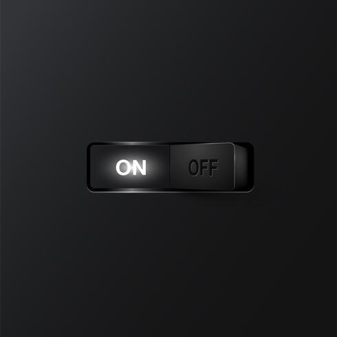 Realistisk strömbrytare (ON), vektor illustration