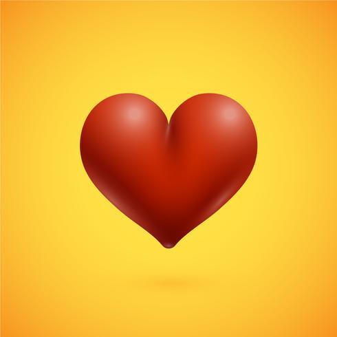 Rotes hoch-ausführliches Herz, Vektorillustration vektor