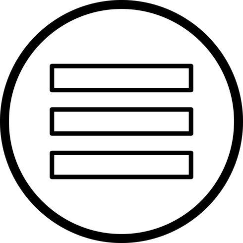 Menü-Vektor-Symbol vektor