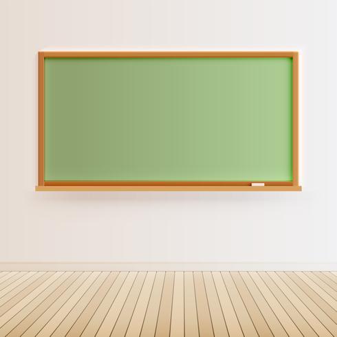 Hohe ausführliche schwarze Tafel mit Bretterboden, Vektorillustration vektor