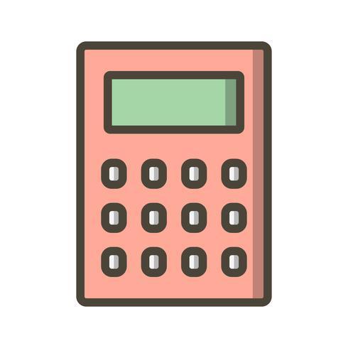ikon för vektorkalkylator vektor