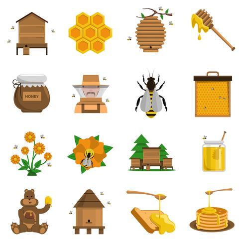 Honey Icons Set vektor