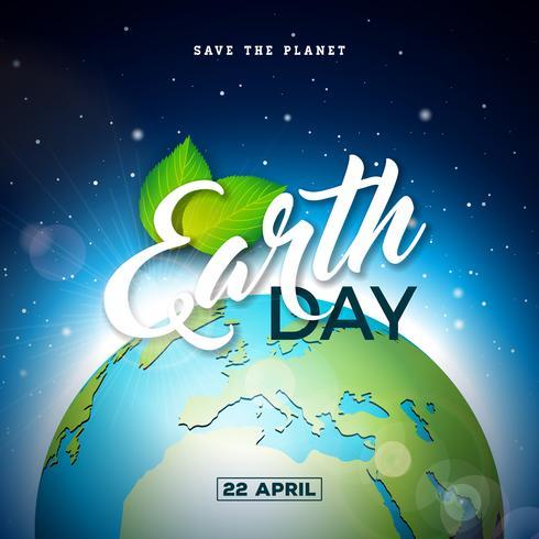 Jordens dag vektor