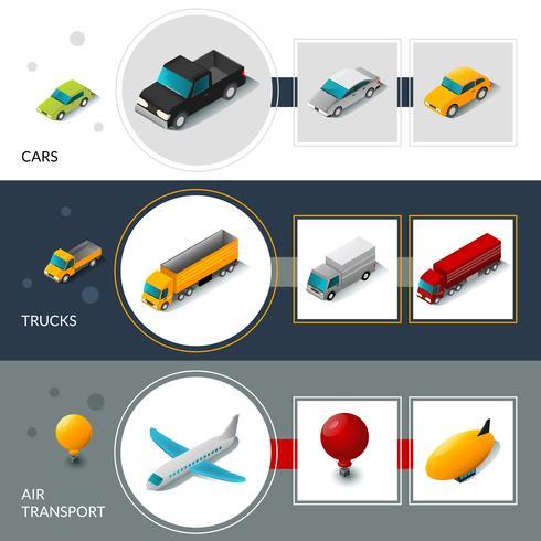 isometriska transportbanderier vektor