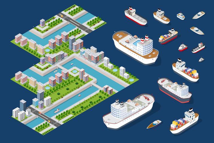Urban stadsdelar av staden vektor