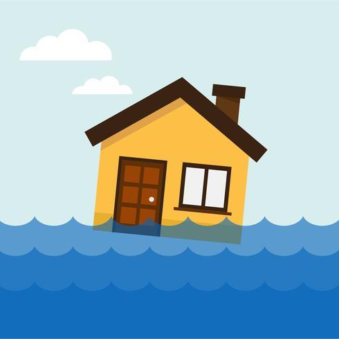Haus am Wasser vektor