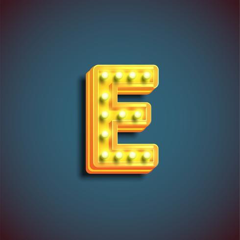 """Broadway"" -Charakter mit Lampen von einem fontset, Vektorillustration vektor"
