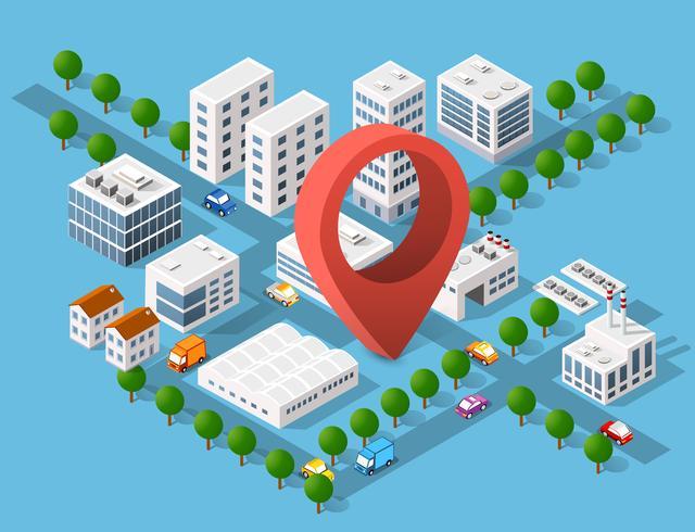 Stadsområdet av stadens infrastruktur vektor