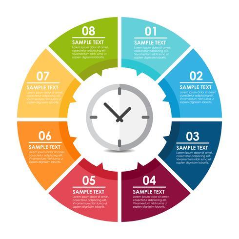 Uhr Infografik vektor