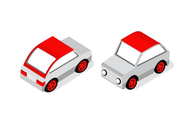 Isometrisch gesetzte Autos vektor