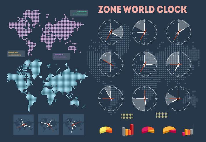 Weltzeit-Infografiken vektor