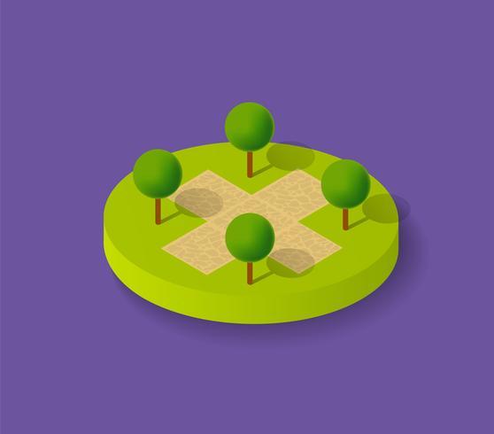 Naturligt ekologiskt landskap vektor