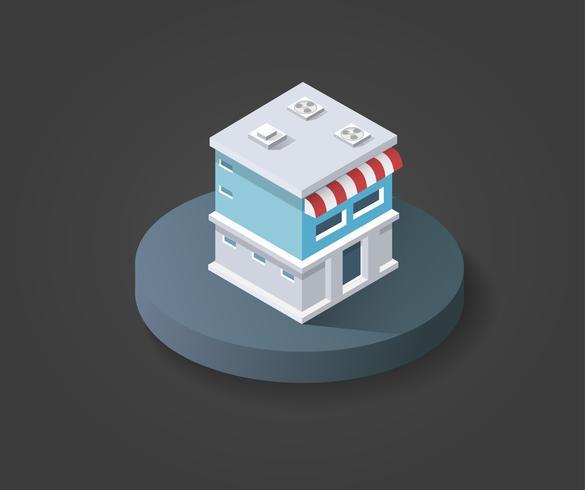 Isometrischer 3D-Shop vektor