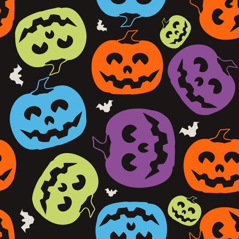 Kürbis-Halloween-Muster vektor