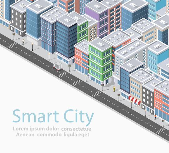 Smart City isometrisch vektor