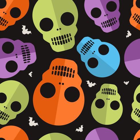 Schädel-Halloween-Muster vektor