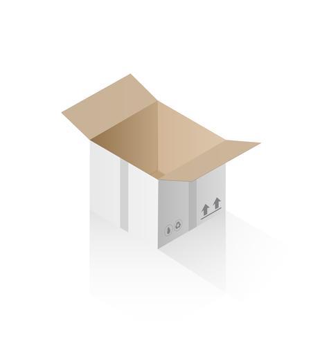 Isometrische Geschenkbox vektor